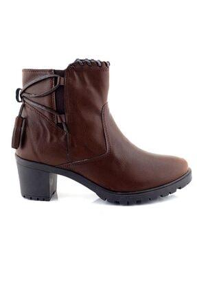 Ayakkabı Tarzım Kahverengi Kadın Bot Topuklu Ozgr 00518 1