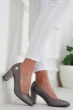 Mammamia Platin Topuklu Kadın Stiletto Ayakkabı • A202ydyl0069 1