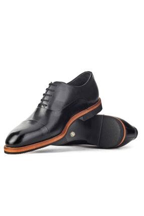Cabani Oxford Hafif Light Tabanlı Bağcıklı Klasik Erkek Ayakkabı Siyah Antik Deri 4