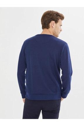 Mcl Giyim Bisiklet Yaka Desenli Pamuklu Sweatshirt 3