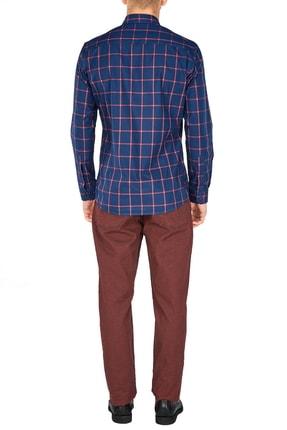 Efor P 1025 Slim Fit Bordo Kanvas Pantolon 1