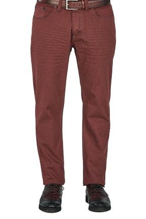 Efor P 1025 Slim Fit Bordo Kanvas Pantolon 2