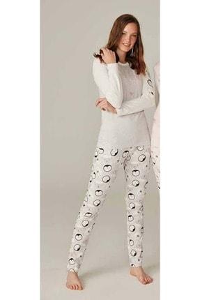 Feyza 3590 Uzun Kollu Pijama Takımı - - Gri - L 0
