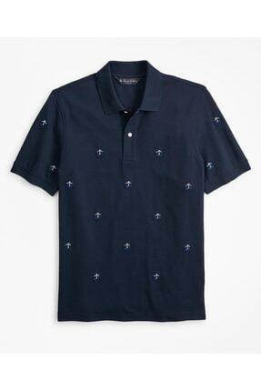 BROOKS BROTHERS Erkek Lacivert Golden Fleece Polo Yaka T-shirt 0