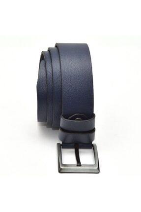 Hakiki Deri Lacivert Kot Pantolon Kemeri 4.5cm YSK2009-4.5CM