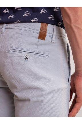 Dufy Açık Mavi Düz Pamuk Likra Karışımlı Erkek Short - Slım Fıt 1