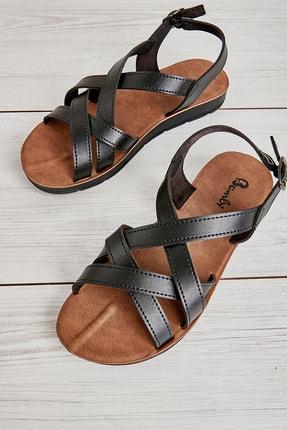 Bambi Sıyah Kadın Sandalet L0642111209 0