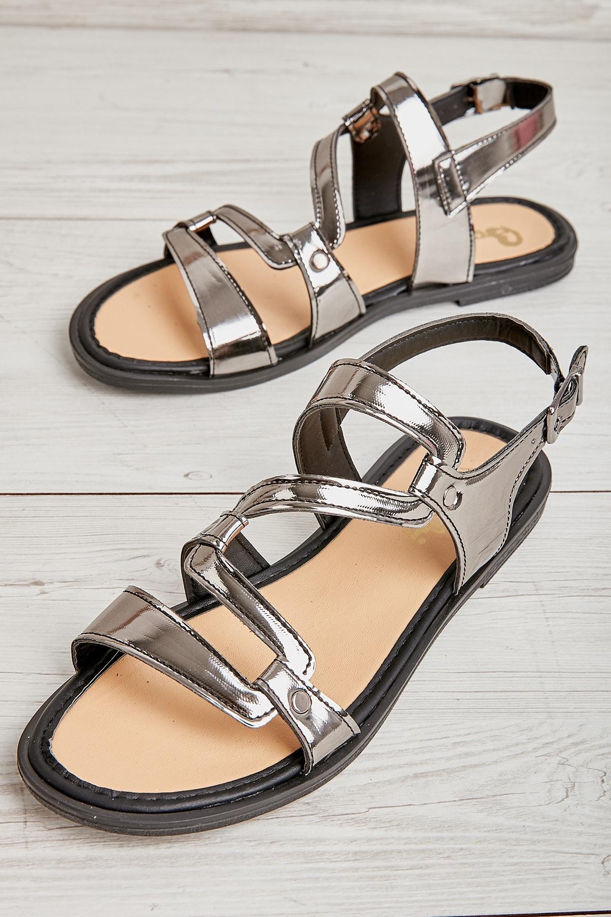 Platin Kadın Sandalet L0652084539