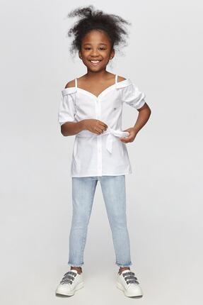 Tyess Kız Çocuk Beyaz Gömlek 0
