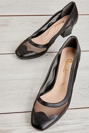 Bambi Siyah Kadın Klasik Topuklu Ayakkabı L07082130 0