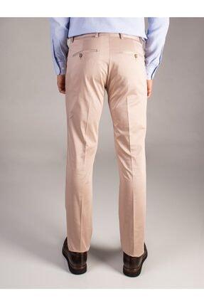 Dufy Bej Düz Pamuklu Saten Erkek Pantolon - Regular Fıt 2