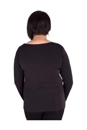 Günay Kadın Bluz Ccarko Mevsimlik O Yaka Sandy Toka Detay-sıyah 3