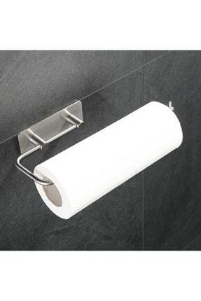 DELTAHOME Paslanmaz Çelik Kağıt Rulo Havluluk Askı - Yapışkanlı Sistem - Inox 0