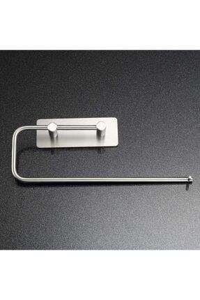 DELTAHOME Paslanmaz Çelik Kağıt Rulo Havluluk Askı - Yapışkanlı Sistem - Inox 3