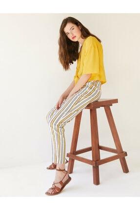 Koton Kadın Çizgili Pantolon 0