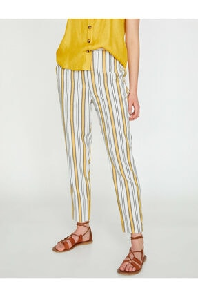 Koton Kadın Çizgili Pantolon 3