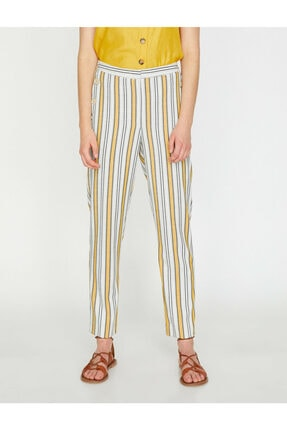 Koton Kadın Çizgili Pantolon 4