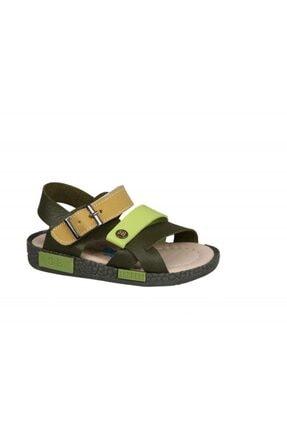 Şirin Bebe 201-21 (22-25 Arası) Ortopedik Yeşil Çocuk Sandalet 1