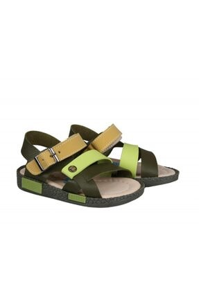 Şirin Bebe 201-21 (22-25 Arası) Ortopedik Yeşil Çocuk Sandalet 4