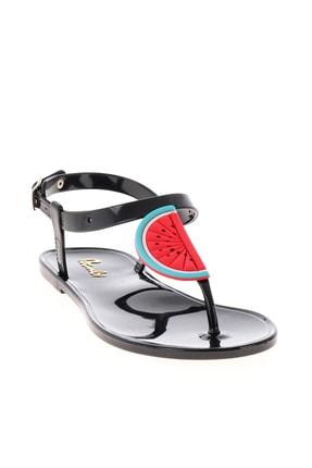 Bambi Siyah Naylon Kadın Sandalet L0500902199 3