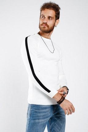 Lafaba Erkek Beyaz Kolları Şeritli Triko 2