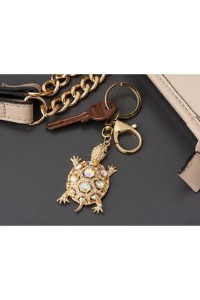 Madame Coco Kaplumbağa Figürl�� Anahtarlık - Gold 0