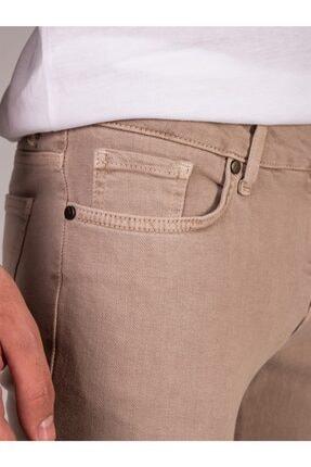 Dufy Bej Düz Likralı 5cep Erkek Pantolon - Regular Fit 1