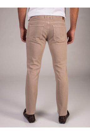 Dufy Bej Düz Likralı 5cep Erkek Pantolon - Regular Fit 2