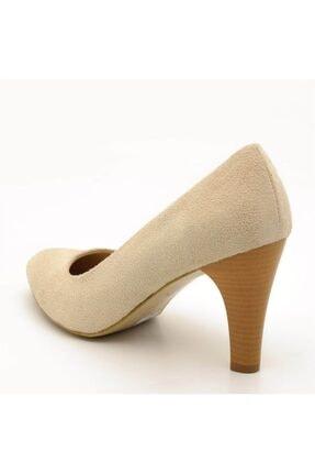 İriadam 1923 Bej Suet Topuklu Büyük Numara Kadın Ayakkabıları 2
