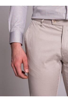 Dufy Bej Düz Ribana Örgü Erkek Pantolon - Slım Fıt 1