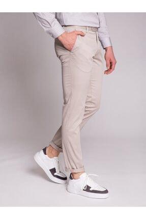 Dufy Bej Düz Ribana Örgü Erkek Pantolon - Slım Fıt 2