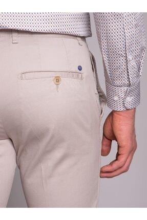 Dufy Bej Düz Ribana Örgü Erkek Pantolon - Slım Fıt 4