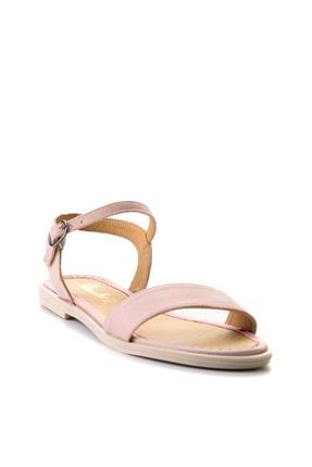 Bambi Pudra Süet Kadın Sandalet L0652071265 2