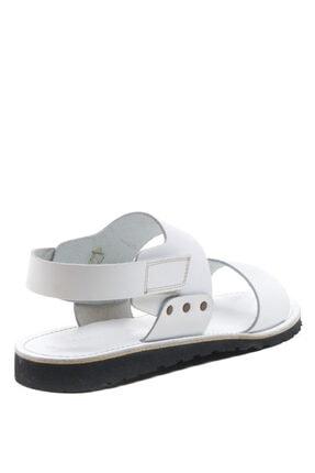 Bulldozer 201772 Beyaz Erkek Deri Sandalet 2