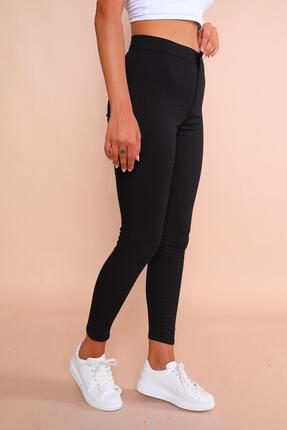 Cappmoda Pnt-07010 Siyah Arka Cepli Yüksek Bel Pantolon Xl 1