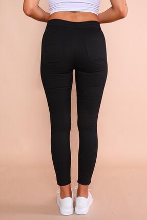 Cappmoda Pnt-07010 Siyah Arka Cepli Yüksek Bel Pantolon Xl 3