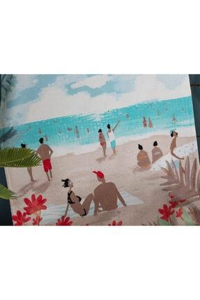 Madame Coco Saleccia Baskılı Kadife Plaj Havlusu 1