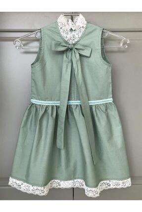 BZ Tasarım Yeşil Çocuk Elbise 2