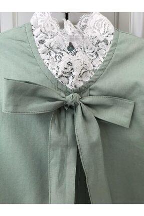 BZ Tasarım Yeşil Çocuk Elbise 3