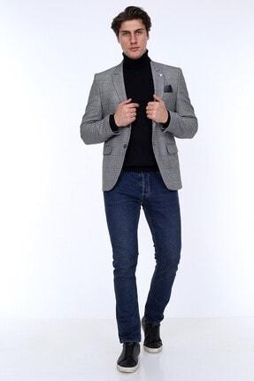 Zen Zen Zenzen Gri Kareli Erkek Blazer Ceket Slım Fıt 01231 3