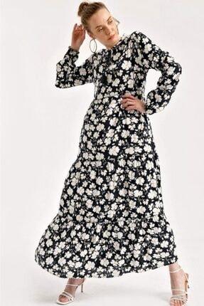 1627 Yaka Bağcıklı Tesettür Elbise resmi