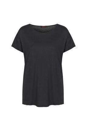 Gusto Yuvarlak Yakalı T-shirt - Siyah 2