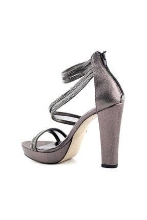 PUNTO 655102 Kadın Topuklu Ayakkabı-platin 2
