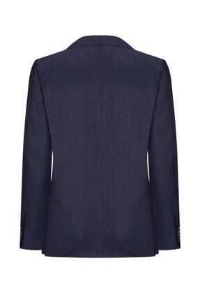 W Collection Lacivert Mıcro Desen Blazer 1