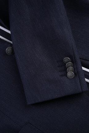 W Collection Lacivert Mıcro Desen Blazer 3