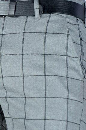 Terapi Men Erkek Ekoseli Slim Fit Keten Pantolon 20y-2200275 Antrasit 3
