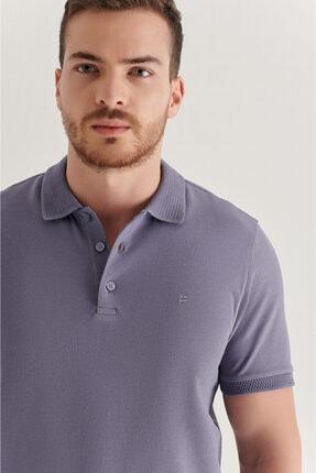 Avva Erkek Lila Polo Yaka Düz T-shirt A11b1146 1