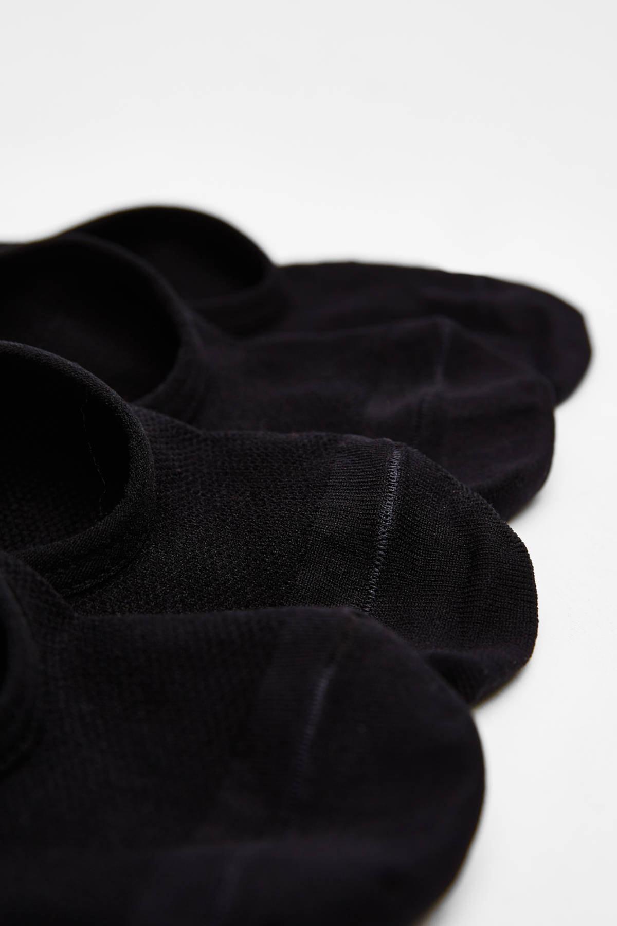 Bershka Kadın Siyah 3'Lü Babet Çorap Paketi 04156607