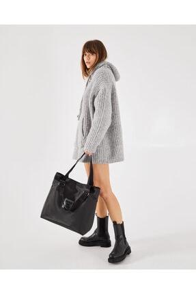 Shule Bags Patlı Kadın Omuz Shopper Çanta Vicky Siyah 2