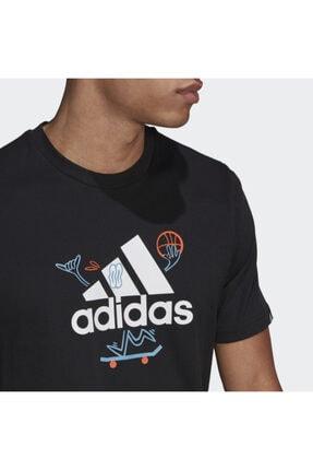 adidas Gl3709 M Crtn Logo Erkek Tişört 4